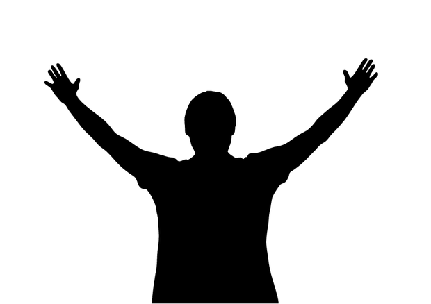 Hands raised in worship clipart clip freeuse library Free Hands Raised In Worship Silhouette, Download Free Clip Art ... clip freeuse library