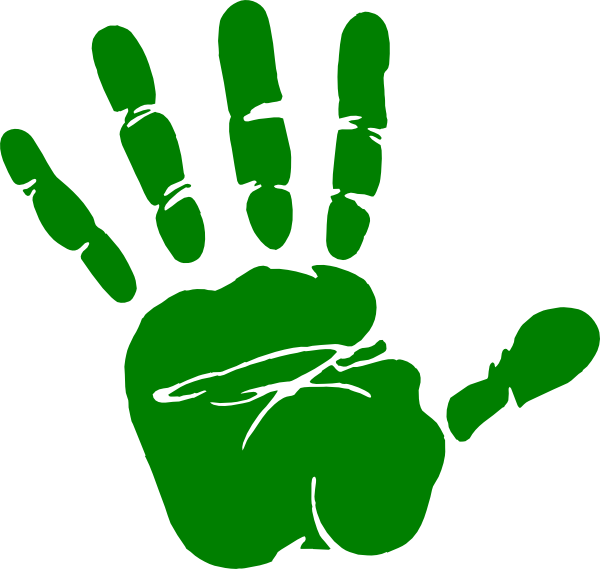 Hands with heart clipart jpg library download Kids Handprint Clipart | Clipart Panda - Free Clipart Images jpg library download