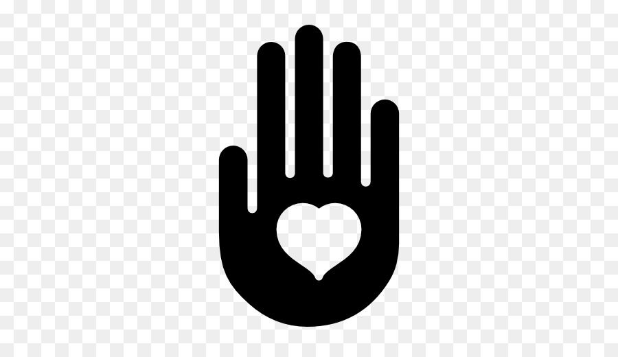 Hands with heart in the palm clipart jpg black and white stock Heart Symbol png download - 512*512 - Free Transparent Symbol png ... jpg black and white stock