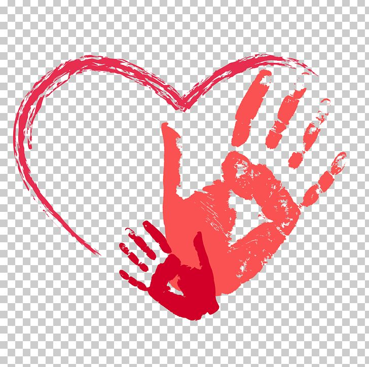 Hands with heart in the palm clipart clip free Red Heart-shaped Palm Prints PNG, Clipart, Cartoon, Child, Clip Art ... clip free