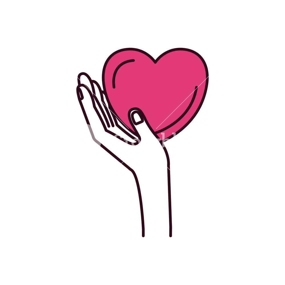 Hands with heart in the palm clipart transparent download silhouette color sections side view hand holding in palm a heart ... transparent download