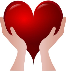 Hands with heart in the palm clipart picture free download Hand In Heart Clipart - Clip Art Library picture free download