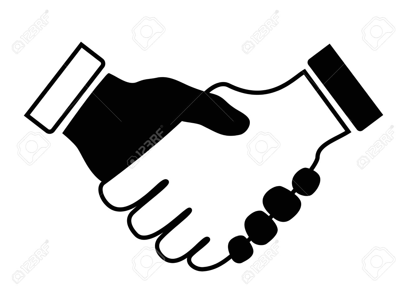 Handshake clipart black and white png library Hands Shaking Clipart | Free download best Hands Shaking Clipart on ... png library