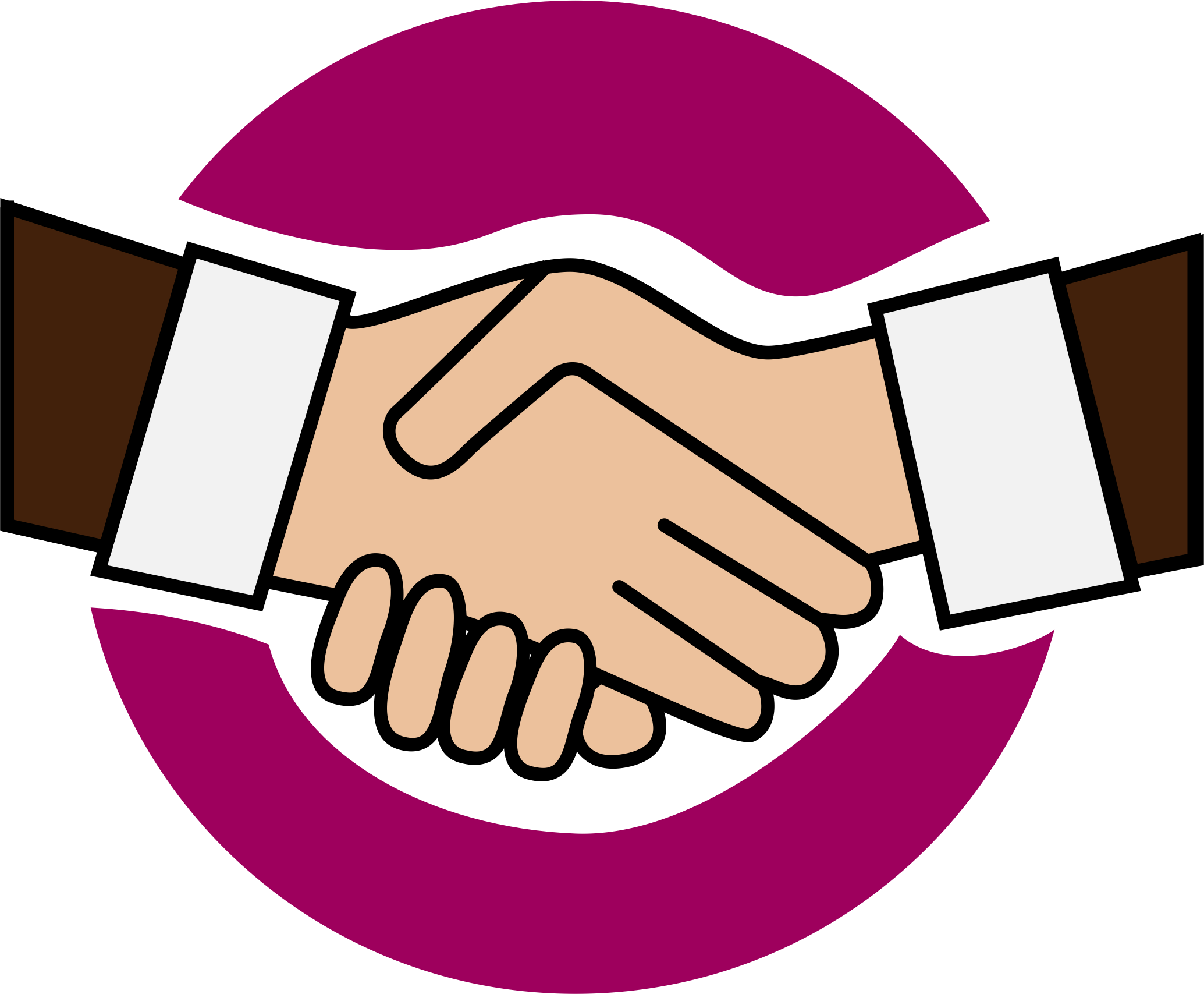 Handshake icon clipart picture black and white stock Clipart a handshake icon - Clipartable.com picture black and white stock