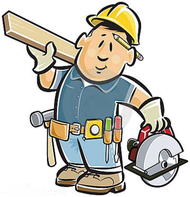 Handy man clipart graphic black and white stock Handy Man Clipart | Free download best Handy Man Clipart on ... graphic black and white stock