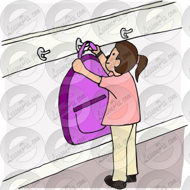 Hang up clipart clipart freeuse download Hang Up Backpack Picture for Classroom / Therapy Use - Great Hang Up ... clipart freeuse download