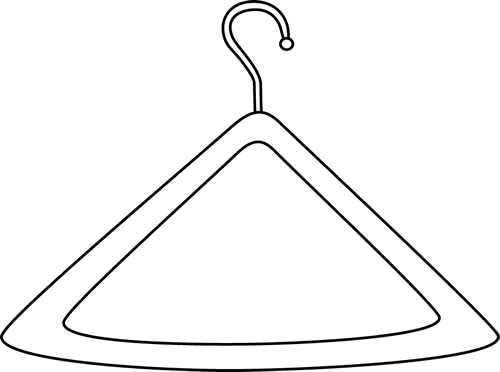 Hanger clipart black and white banner royalty free Black and White Hanger Clip Art - Black and White Hanger Image banner royalty free