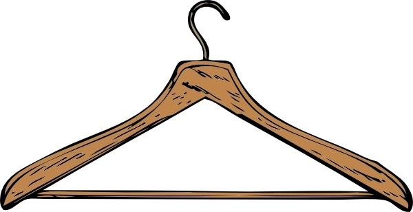 Hanger clipart vector banner free download Coat Hanger clip art Free vector in Open office drawing svg ( .svg ... banner free download