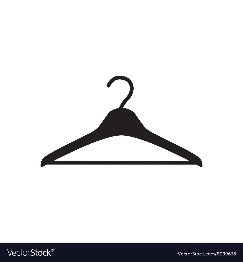 Hanger vector clipart clipart royalty free stock Flat icon in black and white hanger clipart royalty free stock