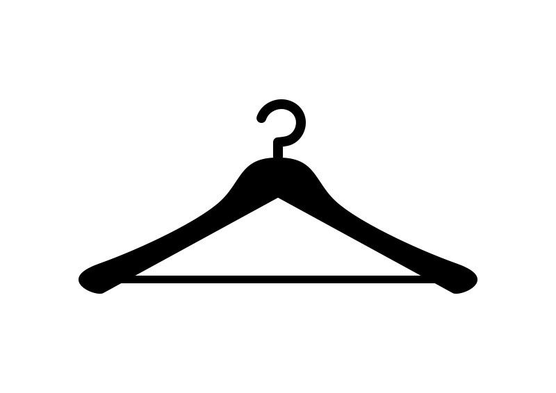 Hanger vector clipart clip download Clothes Hanger Free Vector | vector silhouettes | Clothes hanger ... clip download