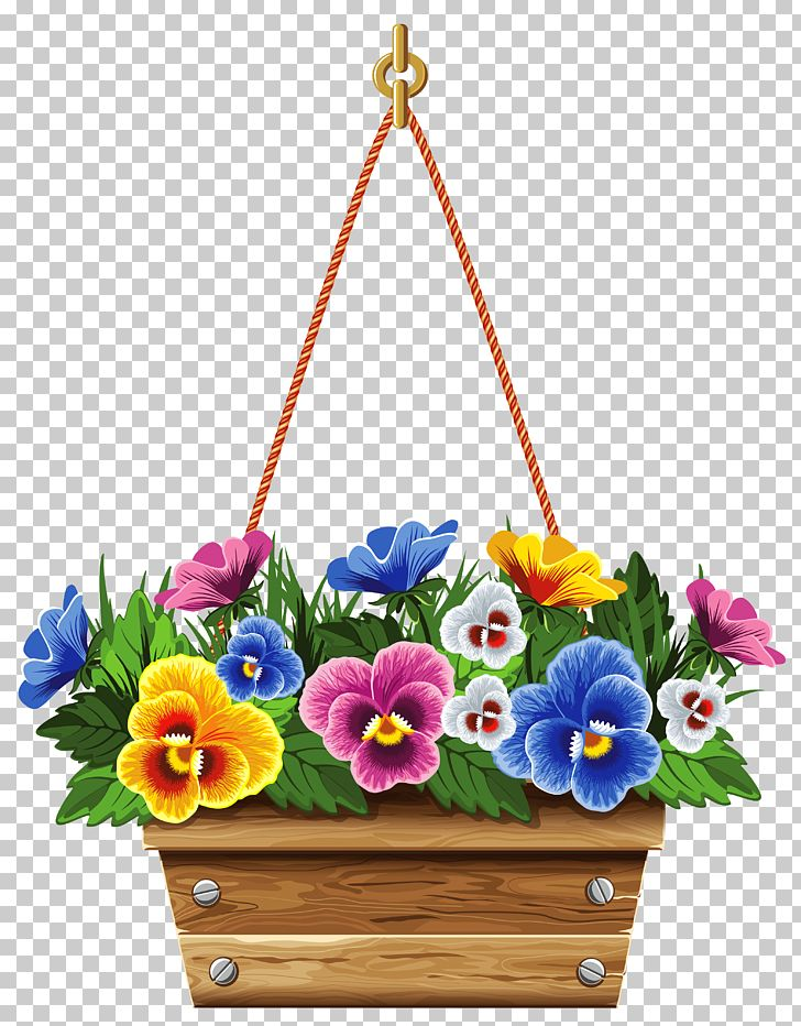 Hanging basket clipart clip free stock Flowerpot Hanging Basket PNG, Clipart, Artificial Flower, Basket ... clip free stock