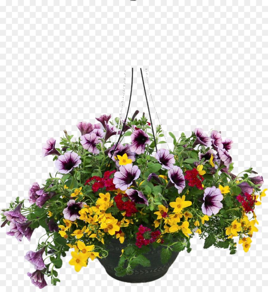 Hanging basket clipart graphic transparent download Floral Flower Background clipart - Flower, Plants, Basket ... graphic transparent download