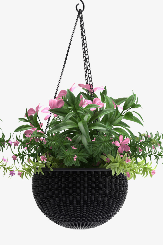 Hanging basket clipart vector black and white library Hanging Basket Png & Free Hanging Basket.png Transparent Images ... vector black and white library