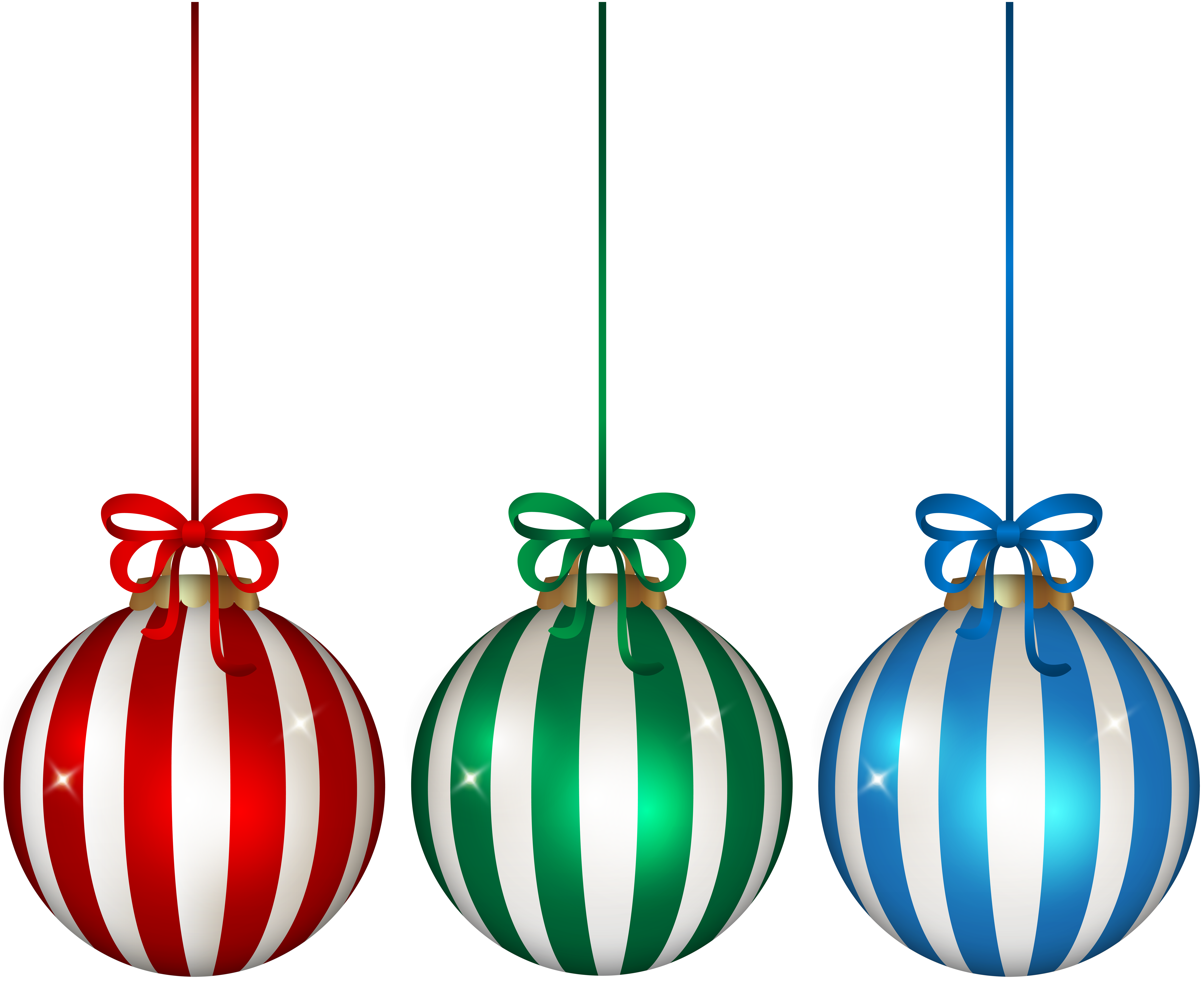 Hanging christmas ornament clipart image freeuse Christmas Hanging Ornament Set Clip Art Image | Gallery ... image freeuse