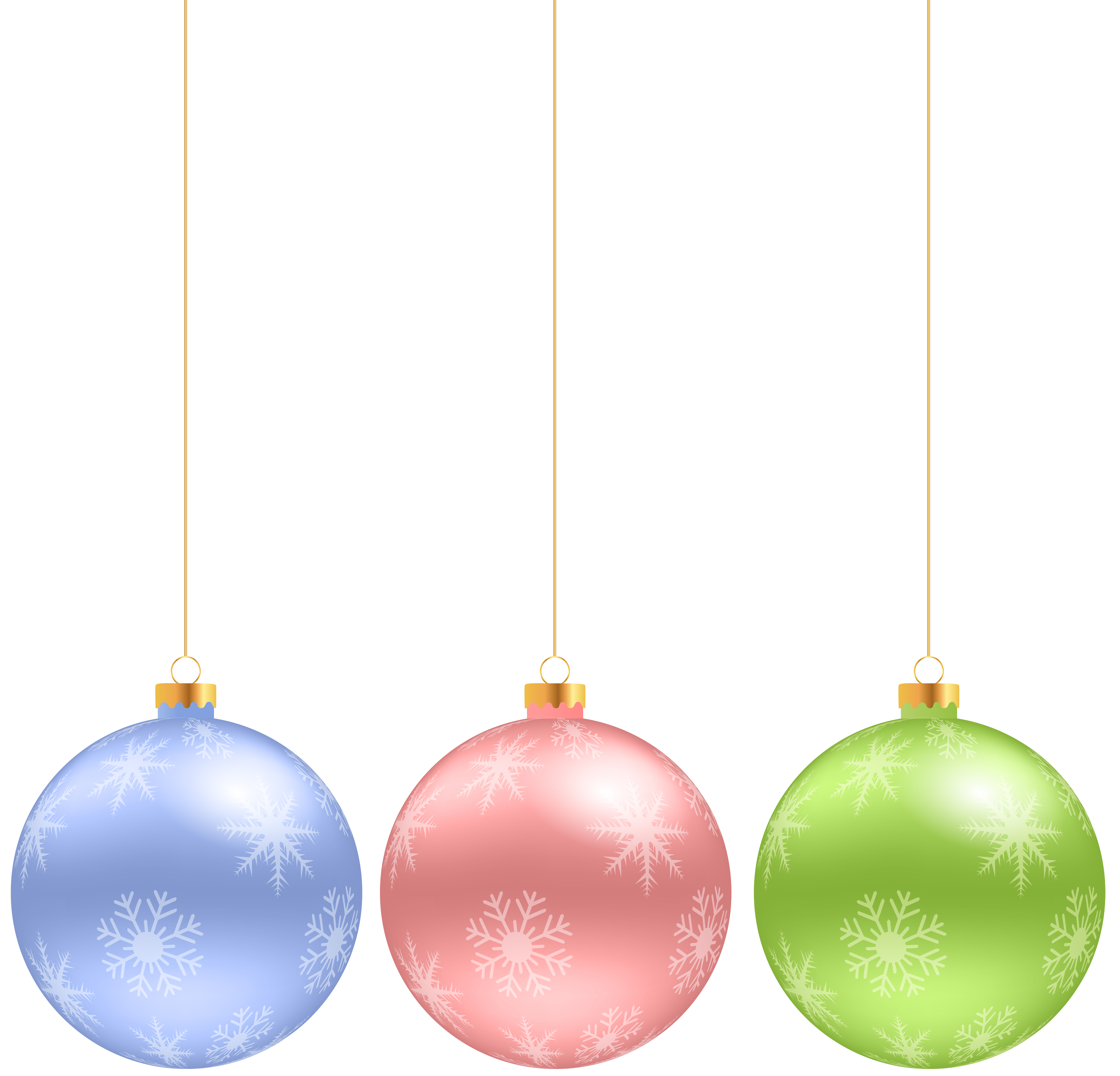 Hanging christmas ornament clipart graphic free library Christmas Hanging Ornaments Clip Art Image | Gallery Yopriceville ... graphic free library