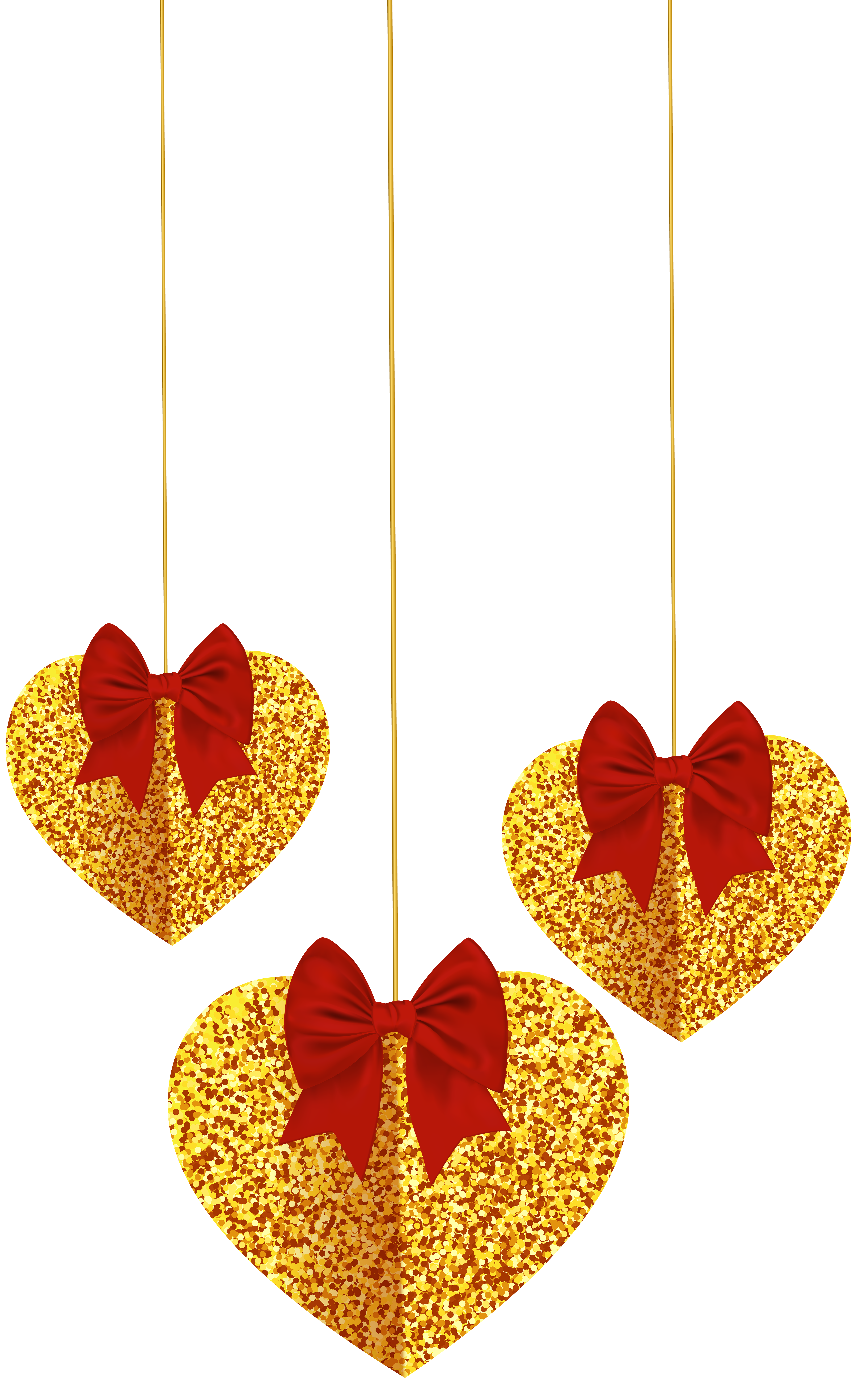 Hanging crown clipart picture library library Hanging Hearts Deco Transparent Clip Art Image | Gallery ... picture library library