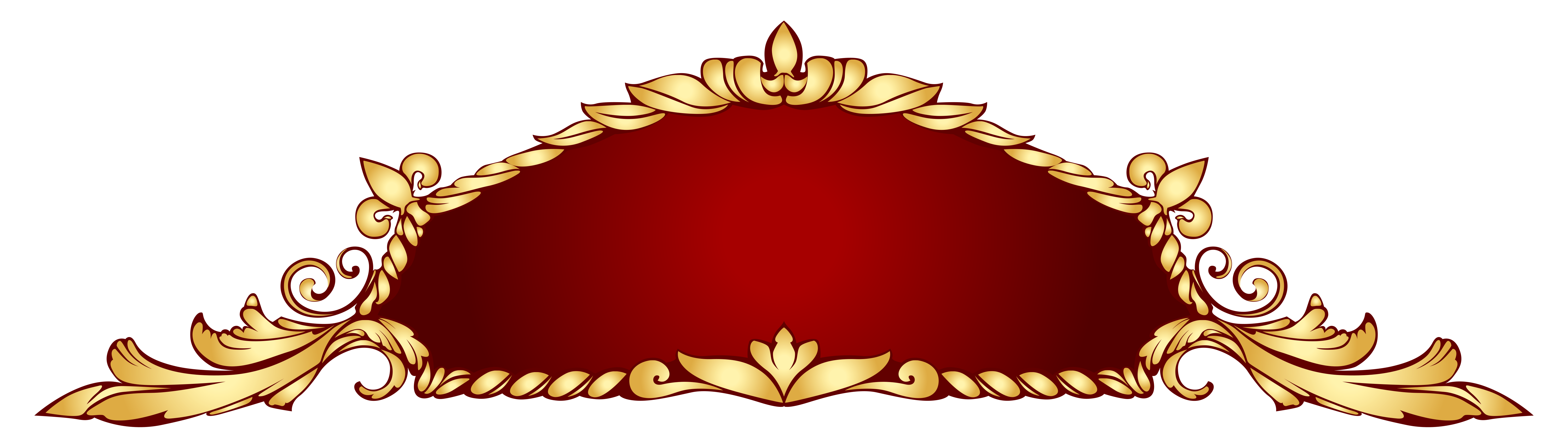 Hanging crown clipart picture free library Transparent Deco Banner PNG Picture | Gallery Yopriceville - High ... picture free library