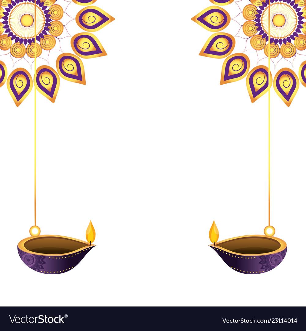 Hanging diya clipart png royalty free Lanterns oil candles hanging vector image png royalty free