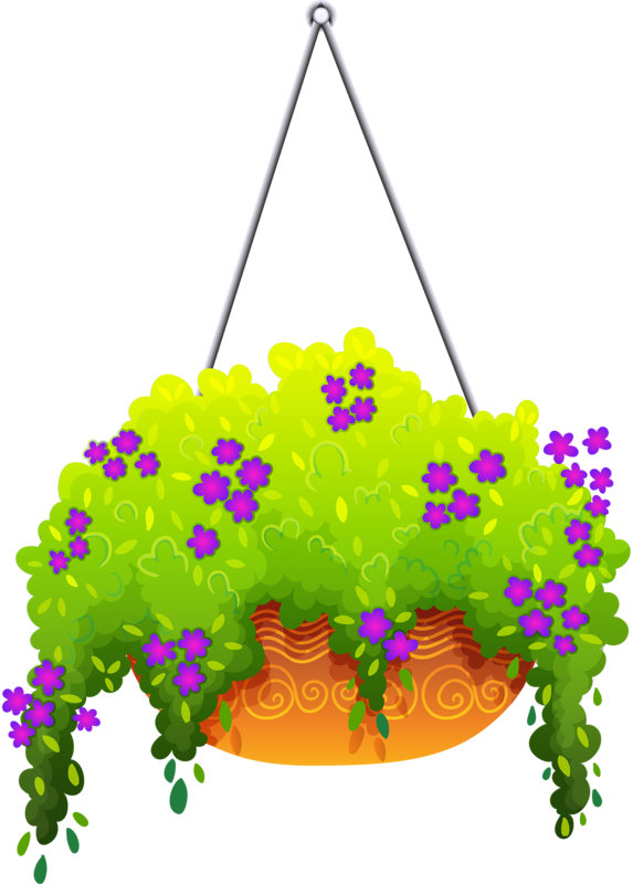 Hanging flower baskets clipart vector royalty free library hanging flower 7.png | ✿° my garden valley ° ✿ | Pinterest ... vector royalty free library