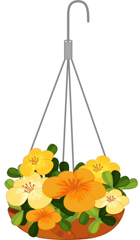 Hanging flower baskets clipart graphic free library hanging flower 1png | ✿° my garden valley ° ✿ | Pinterest | Flower ... graphic free library