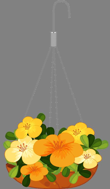 Hanging flower basket clipart svg transparent download hanging flower 1png | ✿° my garden valley ° ✿ | Pinterest | Flower ... svg transparent download