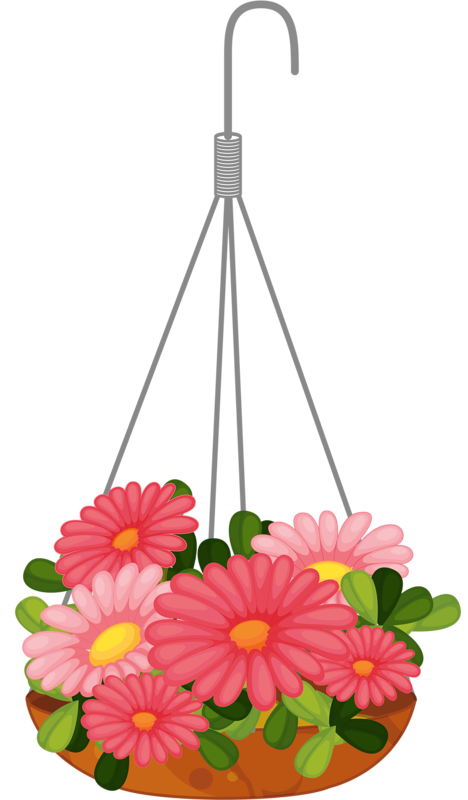 Hanging flower baskets clipart jpg freeuse stock hanging flower 3. png | ✿° my garden valley ° ✿ | Pinterest ... jpg freeuse stock