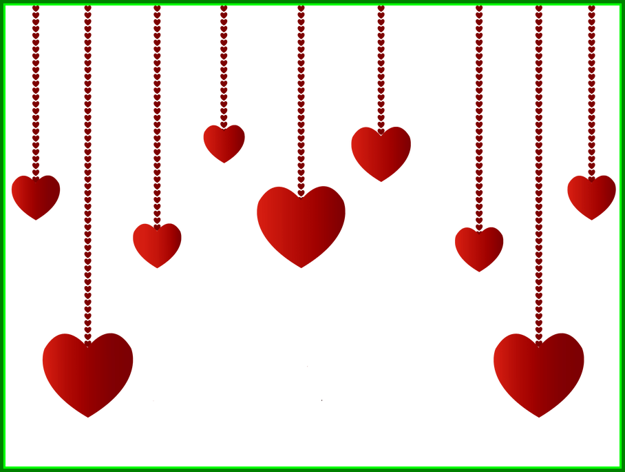 Hanging flower clipart banner library Awesome Hanging Hearts Decoration Png Picture Clipart Pics For ... banner library