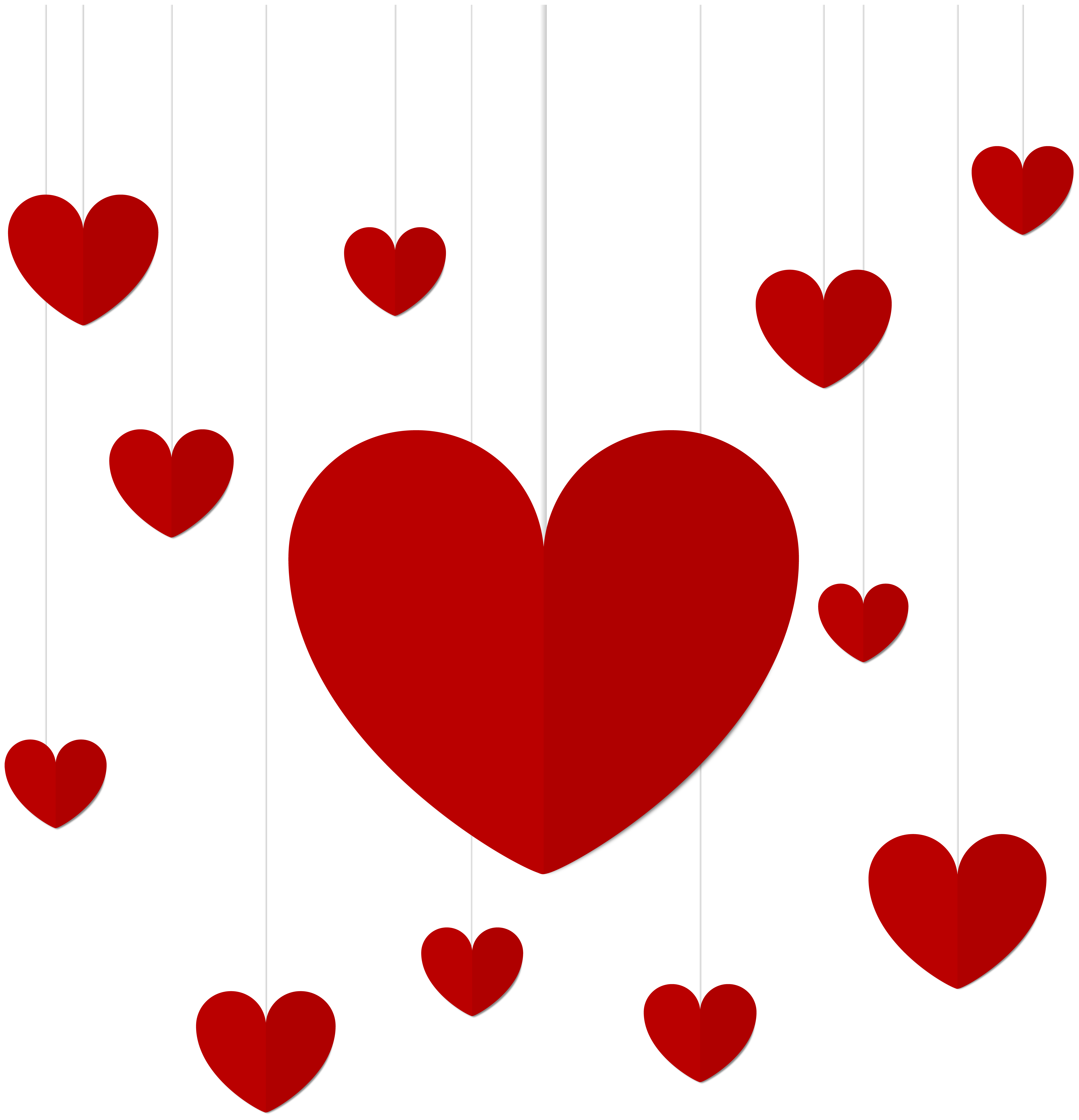 Hanging heart clipart graphic freeuse download Hanging Hearts Decor PNG Clip Art | Gallery Yopriceville - High ... graphic freeuse download