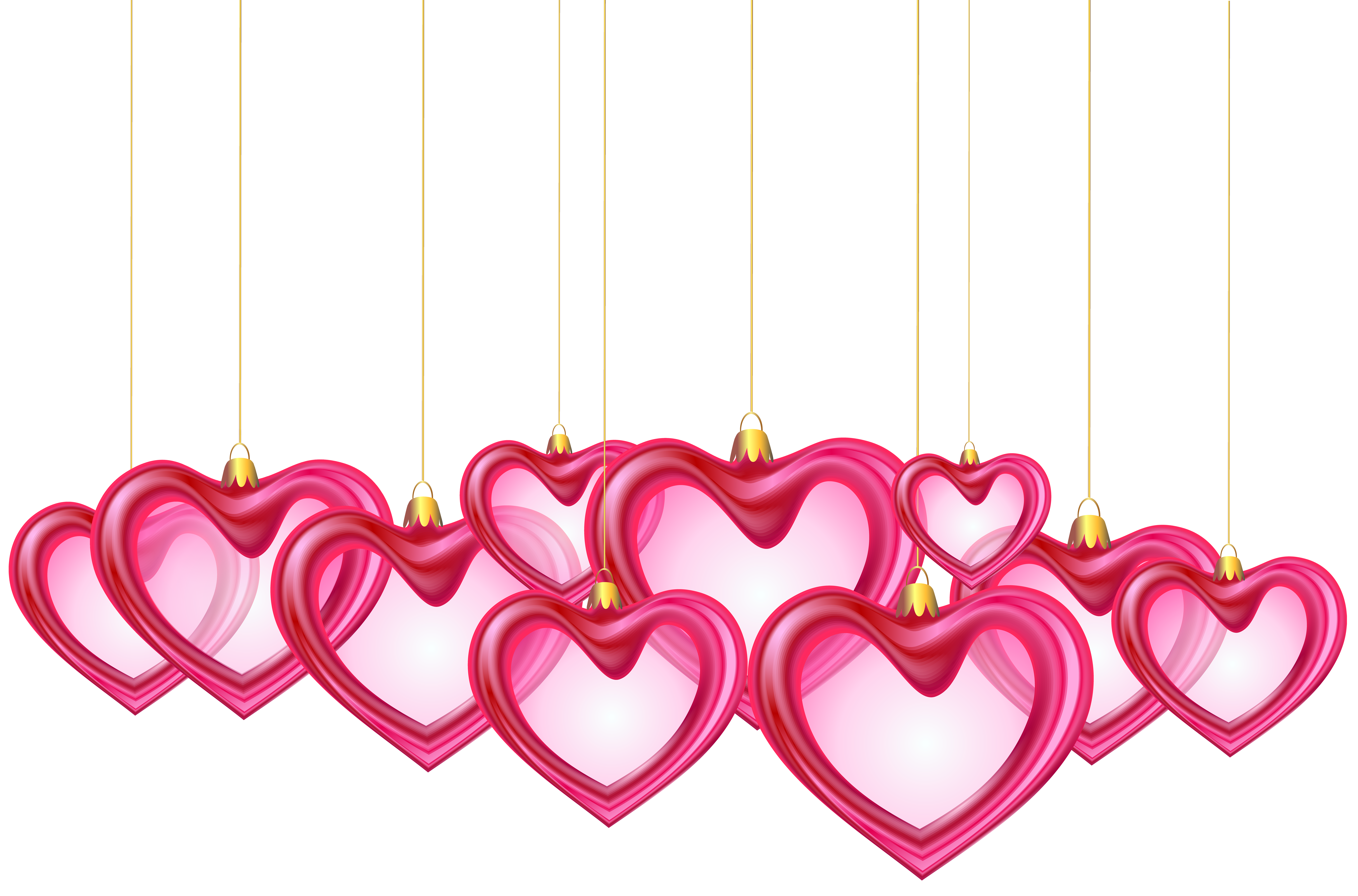 Hanging heart clipart clip free stock Hanging Hearts Decor Transparent PNG Clip Art | Gallery ... clip free stock
