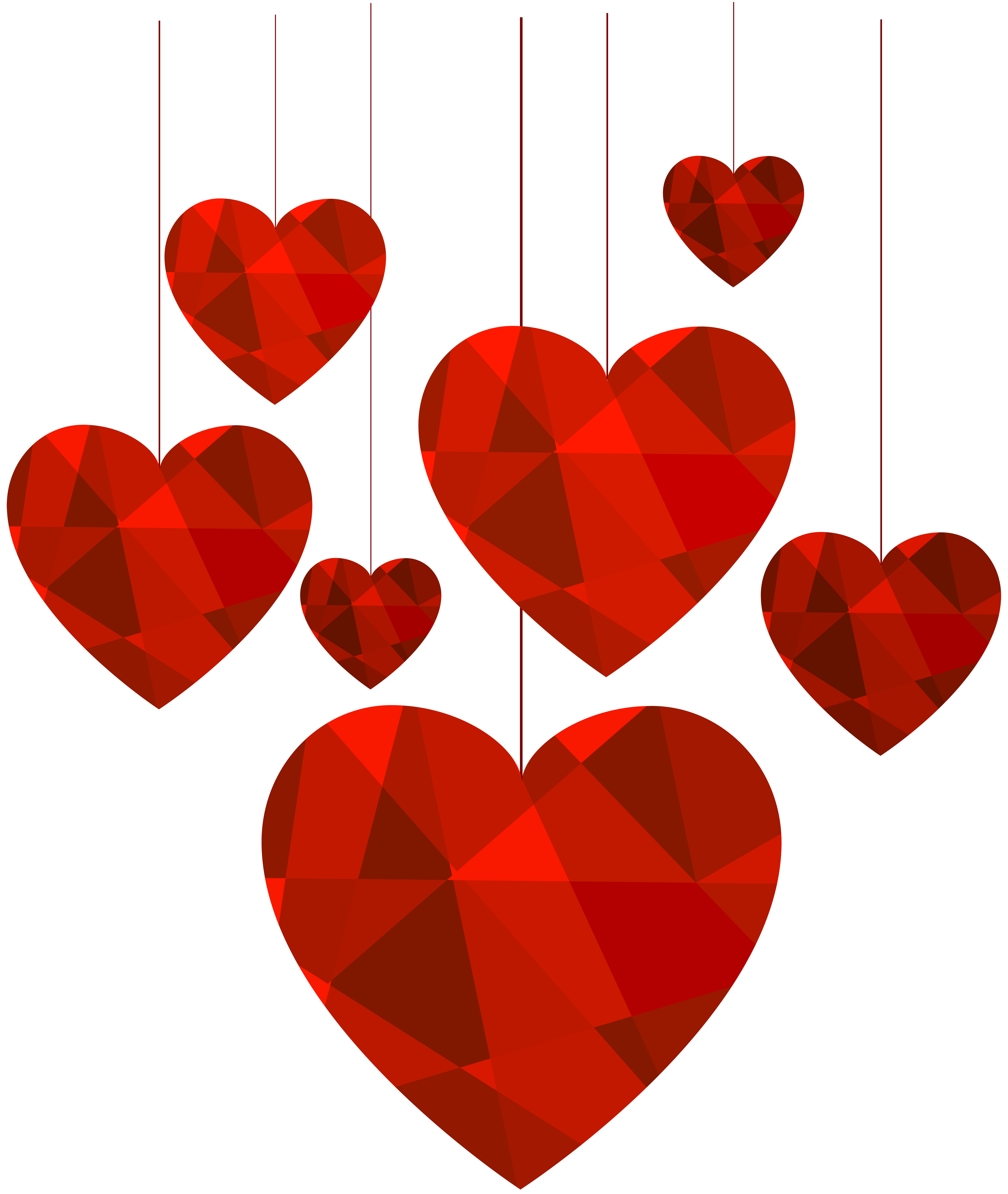 Hanging heart clipart vector download Hanging Hearts Transparent Clip Art Image | Gallery Yopriceville ... vector download