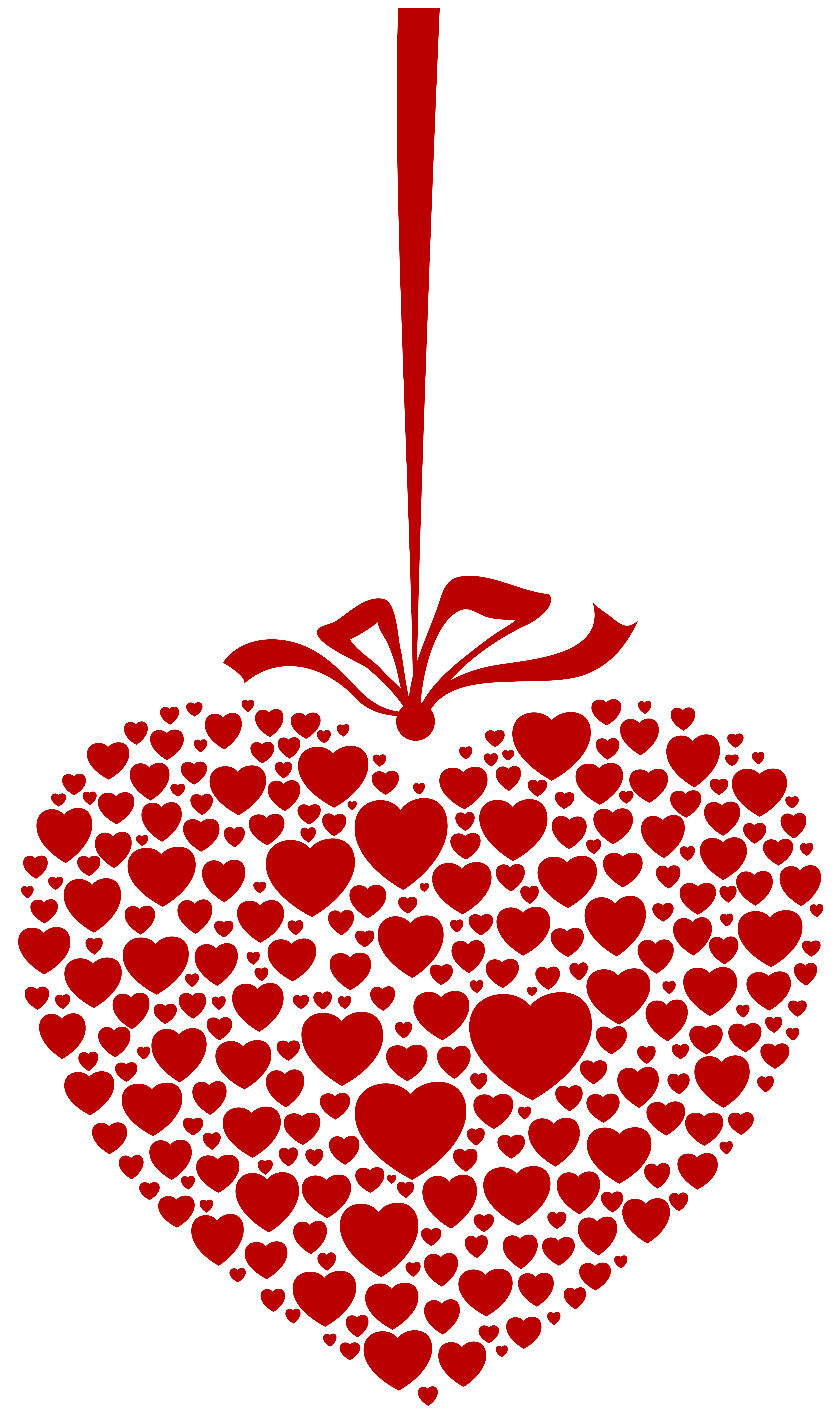 Hanging heart clipart picture free stock Hanging Heart Transparent PNG Clip Art Image | Gallery Yopriceville ... picture free stock