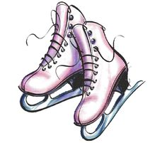 Hanging ice skates clipart png freeuse download 9 Best Cards ice skates images in 2018 | Ice, Ice skating, Figure ... png freeuse download