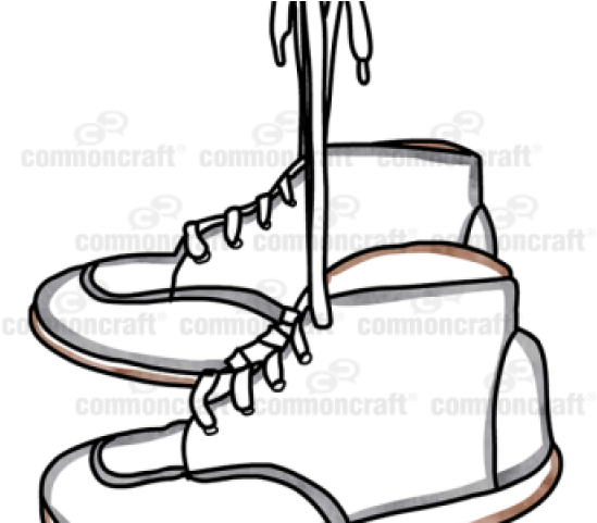 Hanging ice skates clipart graphic free Shoe Clipart Bunch - Sneakers Hanging Png Transparent Png - Full ... graphic free