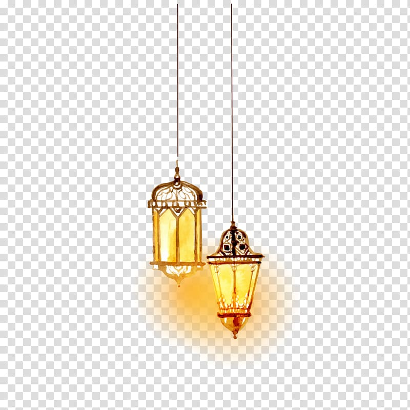 Hanging lamps cliparts svg library download Lighting Islam, Beautiful watercolor Islamic lighting , two hanging ... svg library download