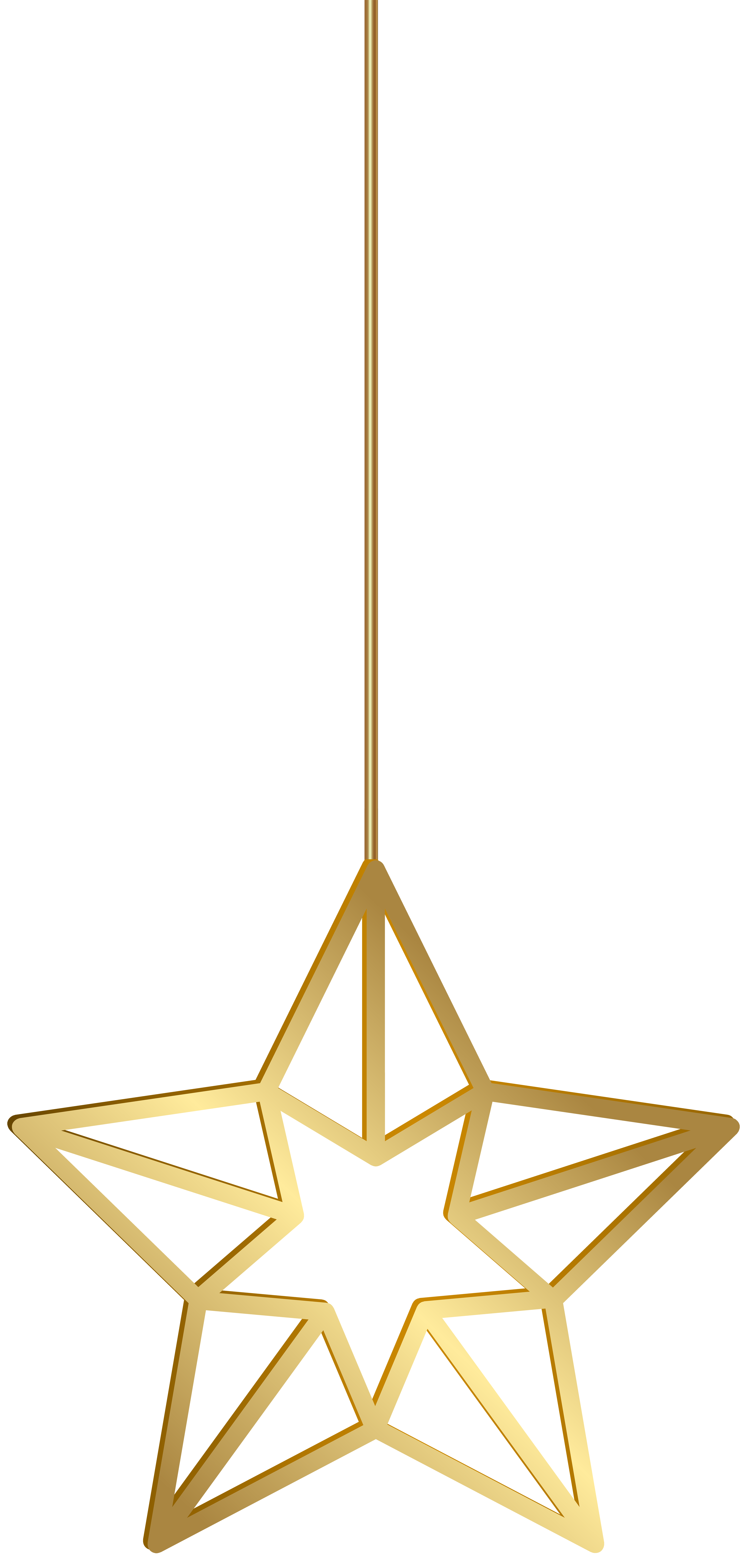 Hanging star clipart picture royalty free download Hanging Star Gold Transparent PNG Clip Art | Gallery Yopriceville ... picture royalty free download