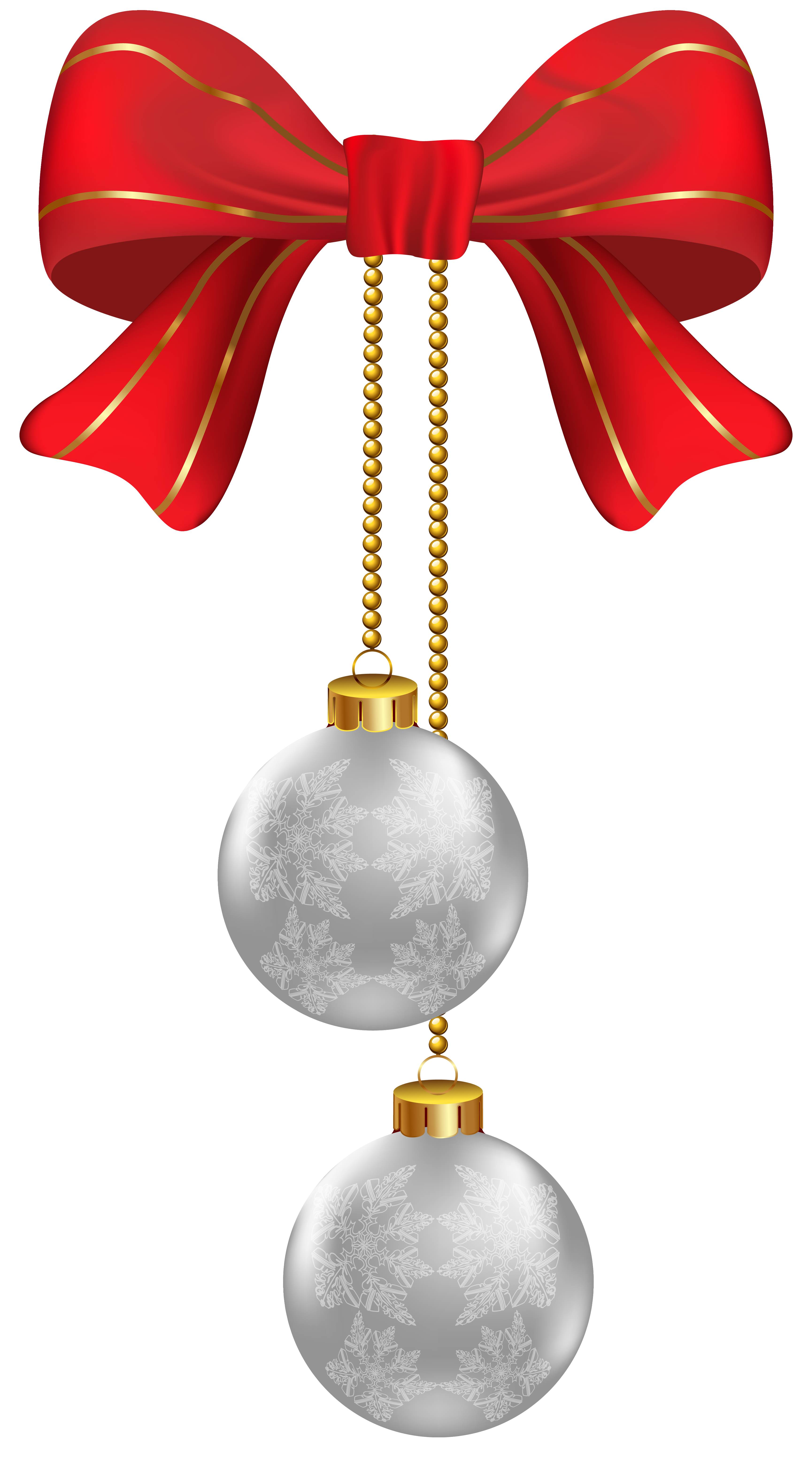 Hanging star oraments clipart download Hanging Christmas Silver Ornaments PNG Clipart Image   Gallery ... download