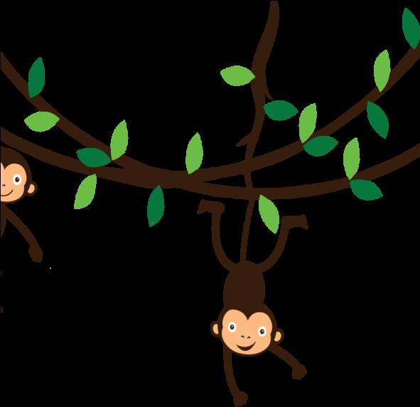 Hanging vines clipart jpg stock HD Hanging Monkey Tattoo - Monkey On Vine Clipart , Free Unlimited ... jpg stock