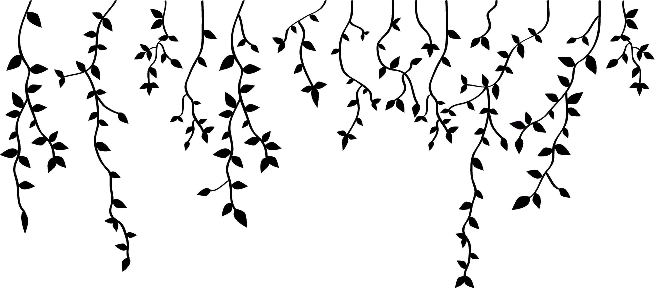 Hanging vines clipart clip art download Hanging Vines Vinyl Decor clip art download