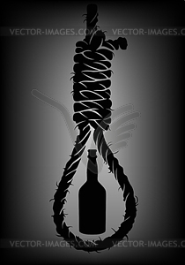 Hangman s noose clipart png freeuse library Alcoholism. Old rope with hangman`s noose with - vector clip art png freeuse library