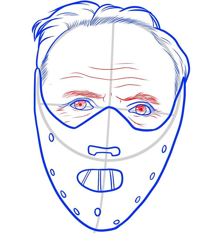 Hannibal mask clipart clip royalty free library Hannibal Lecter Drawing Line Art Cartoon Mask PNG, Clipart ... clip royalty free library