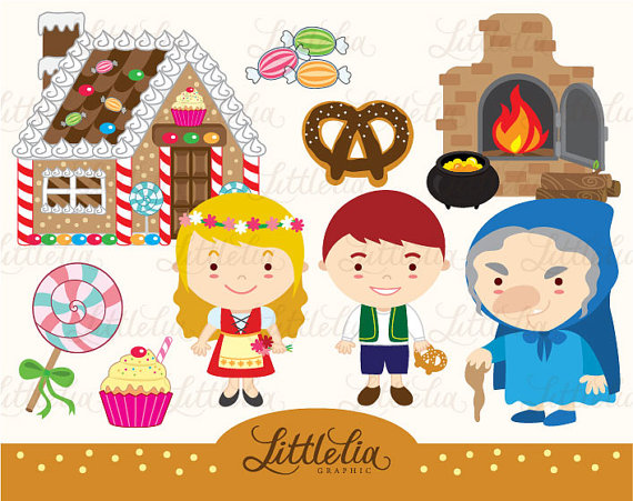 Hansel and gretel clipart free image freeuse download Hansel and Gretel clipart set/ instant download - 14019 | felt ... image freeuse download