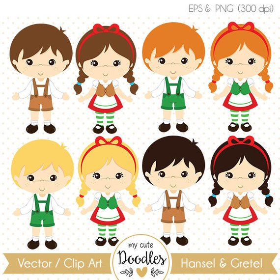 Hansel and gretel clipart graphic Hansel and Gretel clipart, Fairy tale vector - Commercial use - C019 ... graphic