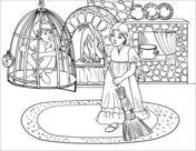 Hansel and gretel clipart black and white graphic freeuse stock Hansel and Gretel Coloring Book | Free Coloring Pages graphic freeuse stock