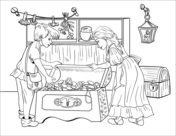 Hansel and gretel clipart black and white picture library download Hansel and Gretel Coloring Book | Free Coloring Pages picture library download