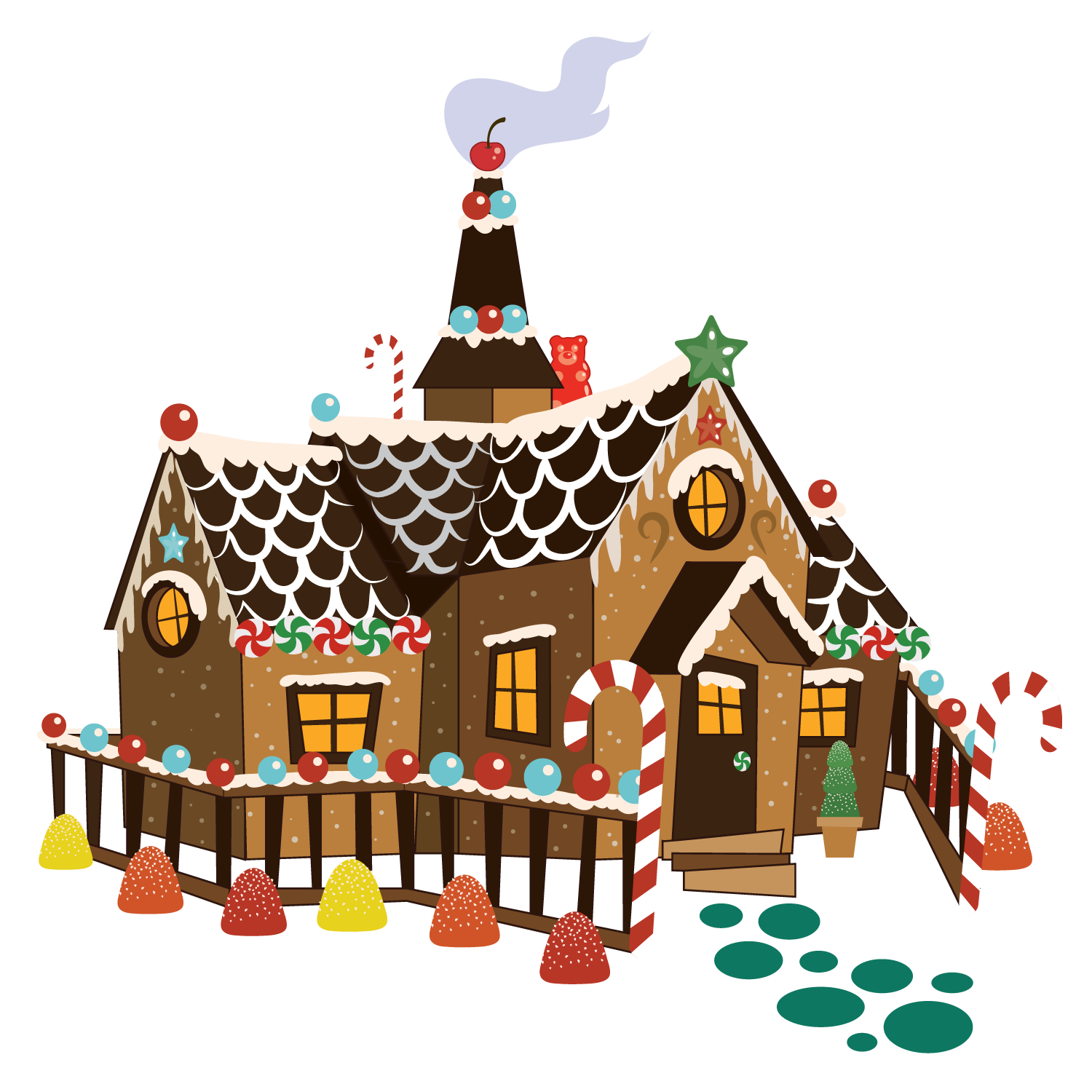 Hansel and gretel gingerbread house clipart clip art free download Hansel and Gretel clip art free download