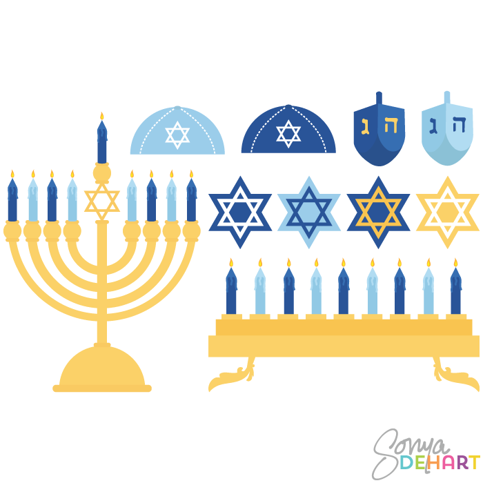 Hanukkah banner clipart picture black and white library Free Hanukkah Cliparts, Download Free Clip Art, Free Clip Art on ... picture black and white library
