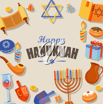 Hanukkah banner clipart svg black and white Happy Hanukkah typography card template, banner and flyer. Vector ... svg black and white