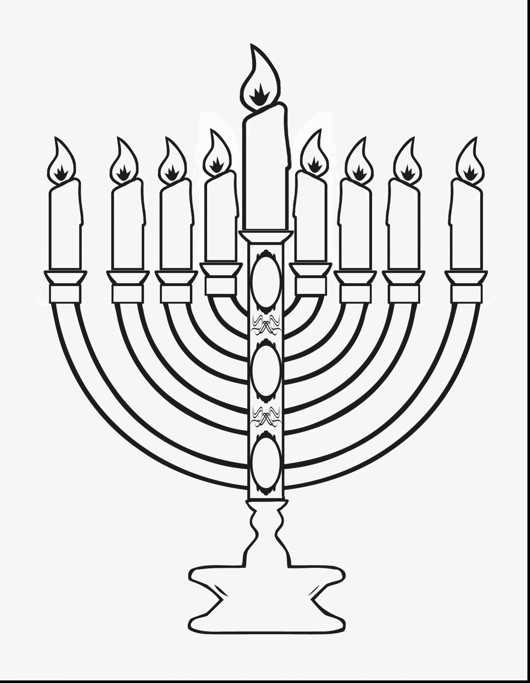 Hanukkah clipart black and white to color vector black and white Hanukkah Menorah Outline - Free Clip Art | Bible | Super coloring ... vector black and white