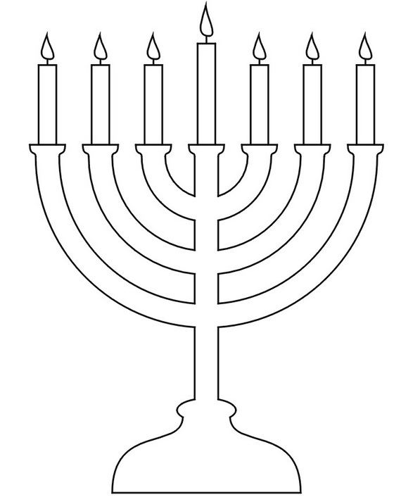 Hanukkah clipart black and white to color svg transparent stock Hanukkah coloring pages menorahs this is not the hanukkiah 9 clipart ... svg transparent stock