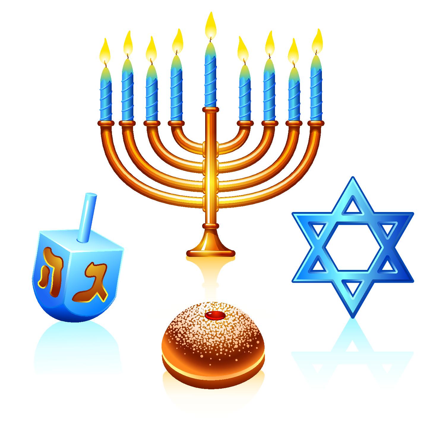 Jewish holiday symbols clipart vector black and white Jewish Menorah Clipart | Free download best Jewish Menorah Clipart ... vector black and white